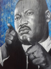 Martin Luther King Jr. - Painted by Julia Bottoms