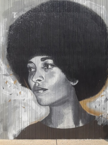 Angela Davis - Painted by Chuck Tingley